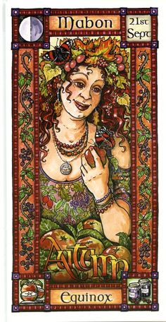 The Goddess and the Green Man | Mabon Autumn Equinox | Mabon Autumn Equinox - Pinned by The Mystic's Emporium on Etsy
