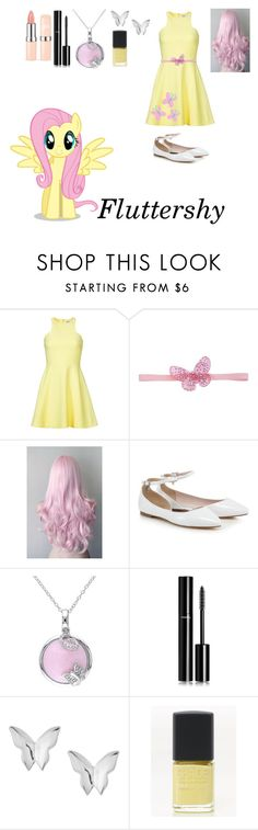 """My Little Pony: Fluttershy"" by mysterious-emo-girl ❤ liked on Polyvore featuring Elizabeth and James, Cutie, Tarina Tarantino, Chanel and Lane Bryant"