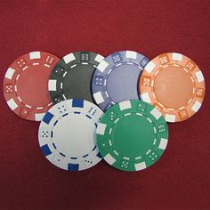 1000 Dice Striped Clay Composite Poker Chips | Overstock.com Shopping - Great Deals on Trademark Games Poker Chips