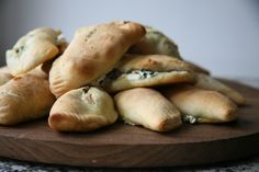 Cookbook: Lidia's Italian-American Kitchen, Spinach Calzone with Ricotta & mozzarella. I am adding crumbled sweet sausage & a little nutmeg.making this tomorrow for family :) Lidia's Recipes, Kitchen Recipes, Copycat Recipes, Pizza Recipes, Cooking Recipes, Italian Dishes, Italian Recipes, Lidias Italy Recipes, Empanadas