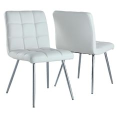 Monarch Specialties Dining Chair - White (Set of 2)