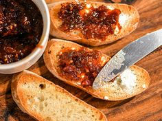 Fresh Tomato and Caramelized Onion Jam | Serious Eats : Recipes, recommends roma, can be made with large heirlooms. Must peel to maintain texture.