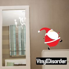 Christmas Santa Wall Decal - Vinyl Car Sticker - Uscolor040