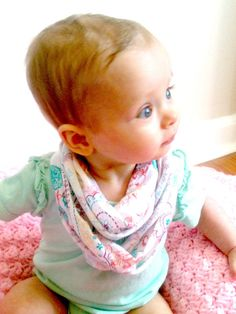 Baby infinity scarf drool catcher double loop  by MaeBeeBoutique, $10.00