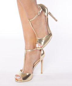 Look what I found on #zulily! Gold Tamara Sandal by Shu Shop #zulilyfinds