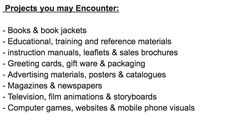 Illustrator_ Projects one may encounter in a company.