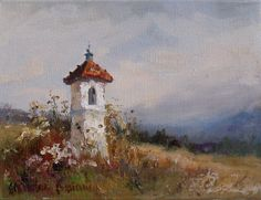 Kapliczka Z Arts, Painting & Drawing, Amazing Art, Landscape Paintings, Wildlife, Statue, Wall Art, Abstract, Drawings