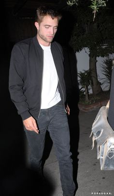Pin for Later: Robert Pattinson Sports Scruff During His Night Out With a Mystery Blonde