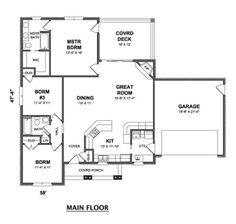 Paulette – Stephen Davis Home Designs Retirement House Plans, Dream House Plans, Small House Plans, House Floor Plans, Home Design, Tiny House Design, Nelson Homes, Modern Pool House, Open Concept Home