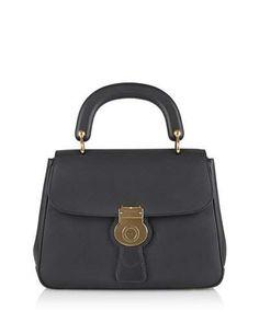 BURBERRY Leather Top-Handle Satchel Bag, Black. #burberry #bags #polyester #leather #lining #satchel #shoulder bags #hand bags #