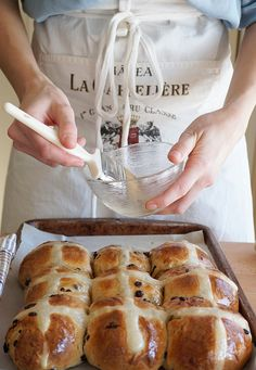 I always know when spring is around the corner, not only because of the warmer weather and the longer sun-filled days but because of every bakery window I pass is filled with hot cross buns!