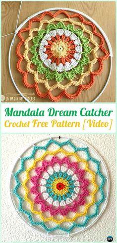 Crochet Mandala DreamCatcher Free Patterns - Crochet Dream Catcher Free Patterns