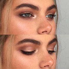 warm-toned smokey eye look enhanced with highlighting and bold brows  // Follow @DYTWeddingBlog for more!