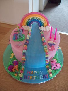 For Auntie: Pretty cake! I like the rainbow and the name on the rainbow. My little pony cake from amandas_cakecreations
