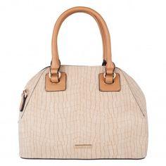 Handbag o bolso de mano imitación de piel de cocodrilo en colores a la moda tonalidades nude empolvadas. Venta de bolsos y complementos al por mayor. Distribuidores de bolsos y complementos.