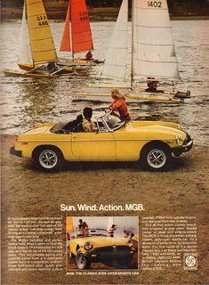 1977 MG MGB Convertible Sports Car /& Bi-Plane Airplane VINTAGE ADVERTISEMENT