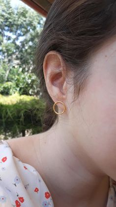 Circle/hoop stud earrings in 3 colors for only 11 EUR - international posting