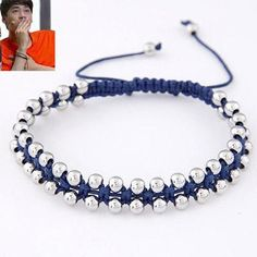 Gelang Korea Rope Pearl Blue KB37173 %body%