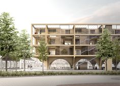 Image 1 of 18 from gallery of JAJA Wins Second Prize for Swedish Housing and Market Hall Hybrid. Photograph by JAJA Architects