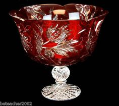 Electronics, Cars, Fashion, Collectibles, Coupons and Crystal Design, Ruby Red, Pedestal, Punch Bowls, Barware, Porcelain, Culture, Crystals, Elegant