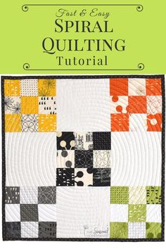 Machine quilting doesnt have to be difficult. The key to simplified machine quilting is using a walking foot. Spiral quilting circular quilting straight line quilting are all possible when you use a walking foot. Quilting For Beginners, Quilting Tips, Quilting Tutorials, Quilting Fabric, Quilting Projects, Modern Quilt Patterns, Quilt Patterns Free, Quilt Modern, Modern Quilting
