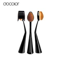 Docolor 1Pcs Power Makeup Brush Beauty Oval Cream Puff Cosmetic Toothbrush-shaped foundation brush Blend Tools Free Shipping
