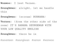 How to find Vernon in a crowd if you're Seungkwan.
