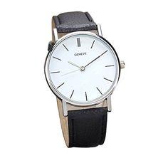 Tyler Hancock Unisexe Retro Design bande de cuir Quartz alliage analogique montre-bracelet Noir: Couverture arrière en acier inoxydable…
