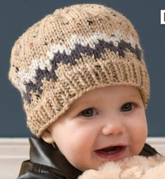 Double Chevron Beanie (on hard drive as Red Heart Patterns for Baby 12 Easy Knitting Patterns for Little Ones free eBook )