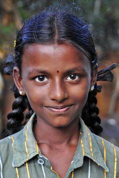 Schoolgirl in India