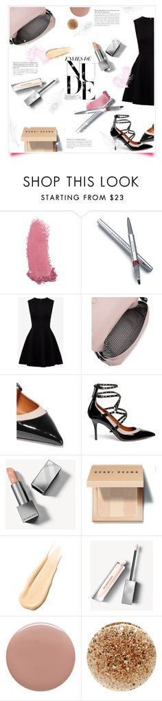 """""""How to Look Good...Nude!"""" by metropulse ❤ liked on Polyvore featuring beauty, Gucci, La Prairie, Ted Baker, Kate Spade, Valentino, Burberry, Bobbi Brown Cosmetics, Hourglass Cosmetics and Tom Ford"""