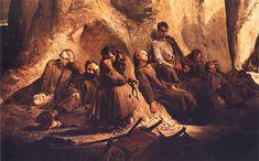 Jacek Malczewski: Niedziela w kopalni or Sunday in the mine  1882.