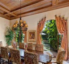 Tuscan Dining Room Drapery