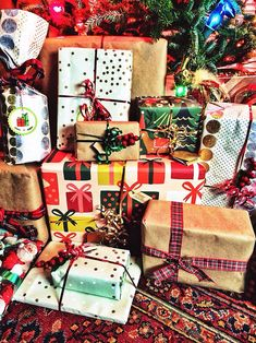 Presents wrapped under the tree