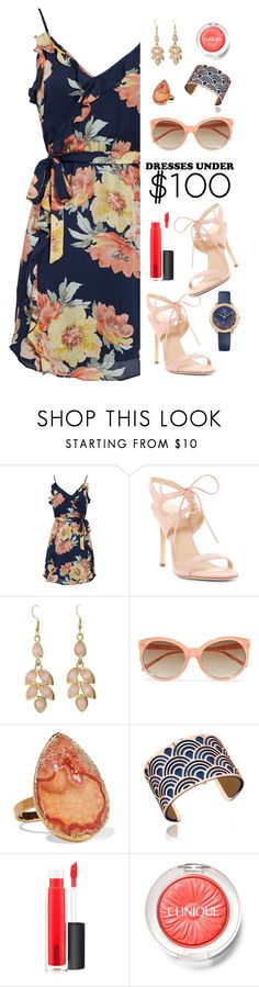 """Pour LA Victoire"" by tina-pieterse ❤ liked on Polyvore featuring Joie, Pour La Victoire, Cents of Style, Linda Farrow, Dara Ettinger, Les Georgettes, MAC Cosmetics, Clinique, Tommy Hilfiger and summerdress"