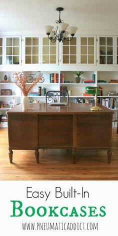 Pneumatic Addict Furniture: Easy Built-In Bookcases