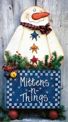 200025 (1) Mittens and Things-Snowman crafts, wood crafts, wood parts, Christmas crafts, crafts, Heidi Markish