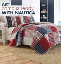 Give your dorm a classic-meets-modern look with Nautica®.