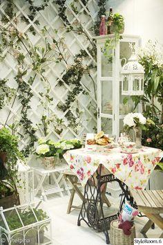 parveke,romanttinen,nostalgia,ruukkupuutarha,puutarha