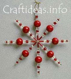 Beaded Star Christmas Tree Ornament