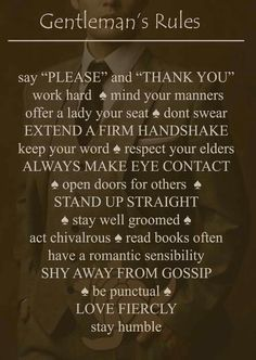 Rules of the Gentleman