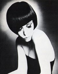 Mod supermodel Peggy Moffitt in one of   Sassoon's signature asymmetrical cuts.