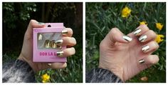 Gold False Nails - Primark (Bought with stop smoking funds)