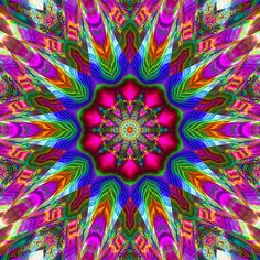 https://flic.kr/p/6fH2HS | Rainbow Plasma Kaleidoscope | Kaleidoscope created from a computer rendered image I made with the Gnu Manipulation Program aka: GIMP.  The original image began as a pattern I made using the Rainbow Plasma XTNS plugin and major overkill with the Hue & Saturation tool.