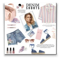 """""""Denim shorts"""" by gul07 ❤ liked on Polyvore featuring Solid & Striped, MICHAEL Michael Kors, Corto Moltedo, Charlotte Russe, Victoria Beckham and Victoria's Secret"""