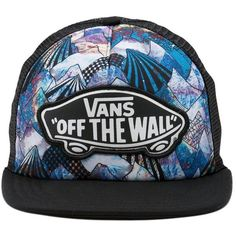 8ef72097e21e22 The Beach Girl Trucker Hat is a cotton and polyester adjustable printed trucker  hat with a cotton visor, a polyester crown, and a Vans Off The Wall logo ...