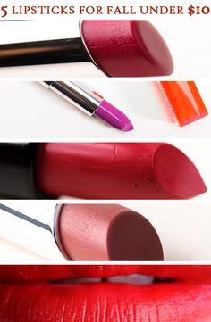 5 Bold Lipsticks for Fall Under $10