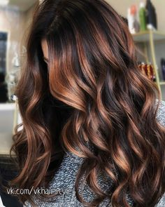 Golden Brown Balayage - 20 Best Golden Brown Hair Ideas to Choose From - The Trending Hairstyle Ombre Hair Color, Brown Hair Colors, Curly Hair Styles, Natural Hair Styles, Dark Hair With Highlights, Carmel Highlights, Chocolate Hair With Caramel Highlights, Chocolate Brown Hair Color, Hair Color Caramel