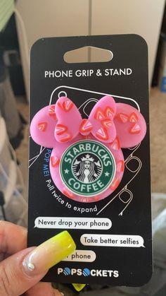 Disney Phone Cases, Girly Phone Cases, Iphone Phone Cases, Custom Popsocket, Cute Popsockets, Popsockets Phones, Diy Pop Socket, Pink Starbucks, Accessoires Iphone