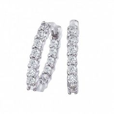 Roberto Coin Inside Out Diamond Hoop Earrings #JRDunn #Jewelry